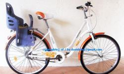 ~~~ BriGHT CHeeRy CiTy BiCyCLe wif ChiLD Seat $118 ~~~