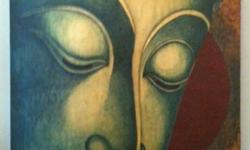 Beautiful Buddha Painting on Canvas   (see photo)