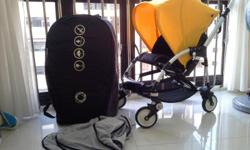 Used bugaboo bee. Yellow. Comes with travel case and