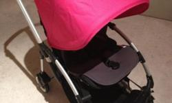 Preloved Bugaboo Bee Stroller with Pink Canopy. In good