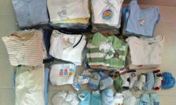 65 pieces of sleepsuites And onesies/rompers 4 baby