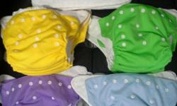 17pcs x Modern Type Cloth Diaper 6pcs x Inserts Self
