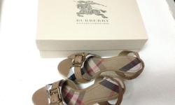 Brand New Burberry Heel - size 37 - brown - come in