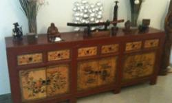 REDUCED TO SELL Beautiful Gansu Firwood Painted