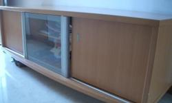 Cabinet (can use as TV console as well), about 155 cm