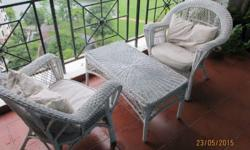Cane Table and Chairs - Great for balcony or outdoors