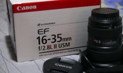 I am selling Canon lens Canon 16-35mm f/2.8L II USM at