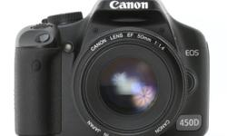 CANON 450D EF-S 18-55 IS Kit. $450 inclusive of Body,