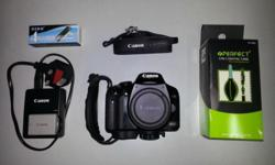 Canon 450D body only. Good condition, slight cosmetic