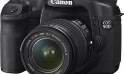 Pre-owned Canon SLR 50D for sale. Comes with 18-55 kit