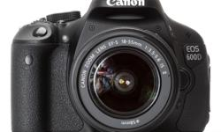 1 x Canon 600D (2 years old, perfect condition, stored