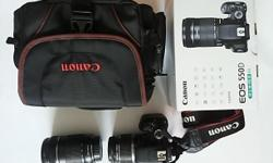 Canon camera kit with 2 lens. EFS 18-55 and EFS
