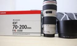 Up for sale is a four month old L lens Canon EF 70-200