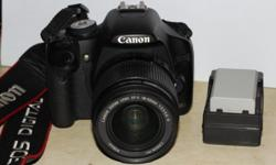 Selling pre-loved Canon 500D camera with 18-55mm Kit