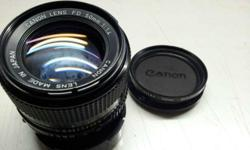 Canon Lens FD 50mm f/1.4. There's fungus on the lens.
