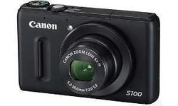 Canon S100 just used for few time , mint condition ..