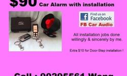 Please call 90295561 Wong. Brand new car alarm with