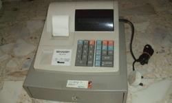 CASH REGISTER MACHINE (SHARP) $30 NEED TO CHANG THE