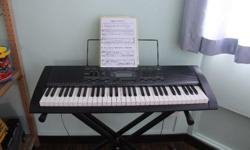 Casio CTK 2000 62 keys keboard with stand and box. In