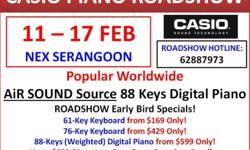 LAST DAY! Casio Digital Piano Roadshow from 11 Feb to