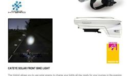 Cateye Solor Front Light for Sale. White Color.