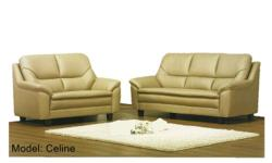 Plush and sexy, the Celine Sofa Set's cushioned seats