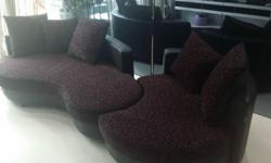 Celini Calpso Sofa for sale. Black and Red Prints.