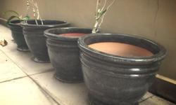 5 Large Ceramic Pots All five for $75 or $20/each