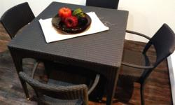Charcoal Grey:Capri Dining Set 90/2 or90/4 Comes with