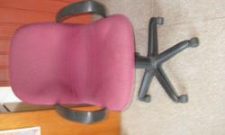 - Chair with arm-rest & 5-castors for sale; - Seldom