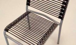 Dining/study table chairs made from elastics with metal