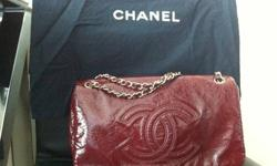 chanel distressed leather