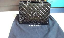 Chanel patent GST BAG@ $3k neg Comes with box,paper