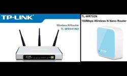 CHEAP! Selling two used wireless routers together at