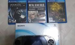 Hi all im selling my psvita black with all my full