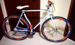 A used Fixie bicycle bought at $250. Selling it at