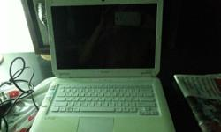 Used Sony laptop white color