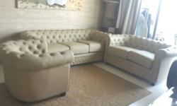 2 month's old chesterfield leather sofa 3 sitter