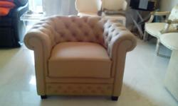 2 months old 1 sitter Chesterfield leather sofa