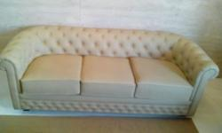 2months old chesterfield leather sofa 3 sitter