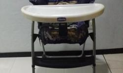 Used Chicco baby high chair for sale at $20. As shown