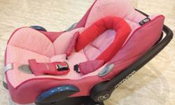 Preloved Pink Maxi Cosi Child Seat $150/-.