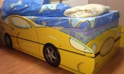 Look new kids race car bed frame with addition pull out