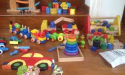 Children's wooden toys for sale, suitable for 3 to 5