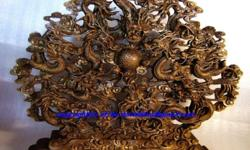 ~~~ Chinese 9 Dragons WooD Carving / Sculpture $688