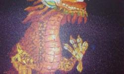 Item: Chinese Oil Painting - Beautiful Dragon