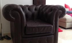 Genuine Leather Winchester Chesterfield Armchair -