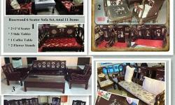 Clearance Sale Rosewood Sofa Sets, 5-7 Seaters,free