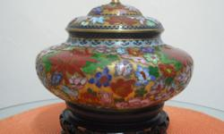 1) Cloisonne Bowl with Base (20 x H22cm) $150 2)