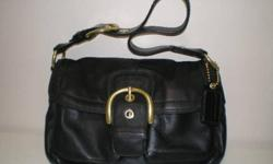 Coach Black Leather Handbag (genuine) bought from Coach